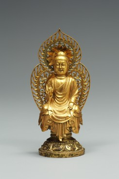 Gold Seated Amitabha Buddha from the Pagoda at Hwangboksa Temple Site image